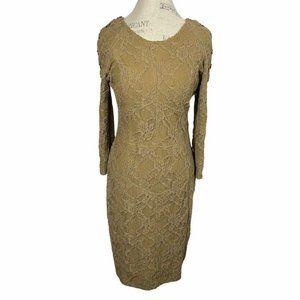 Burberry Prorsum Khaki Green Lace sheath Dress